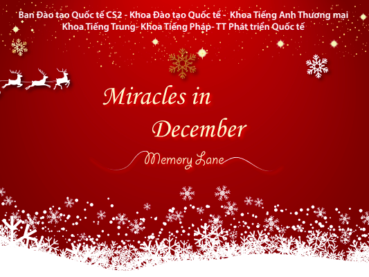 DẠ HỘI GIÁNG SINH MIRACLES IN DECEMBER 2019