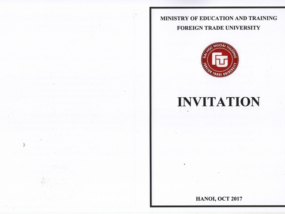 Invitation to Opening Ceremony of Joint training program & Graduation Ceremony of Bachelor and Master program cooperated with Univeristy of Bedfordshire, UK