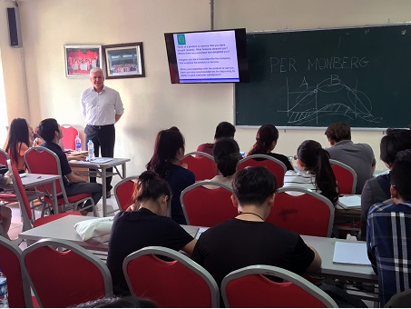 The participation of international lecturers in Bachelor of Science in...